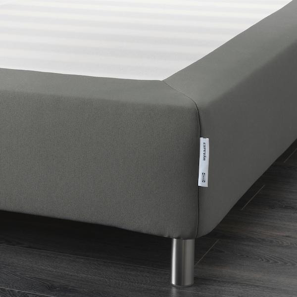 ESPEVÄR Slatted mattress base with legs, dark grey, 90x200 cm