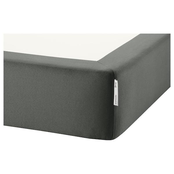 ESPEVÄR Sprung mattress base, dark grey, 140x200 cm