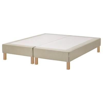 ESPEVÄR Sprung mattress base with legs, natural, 160x200 cm
