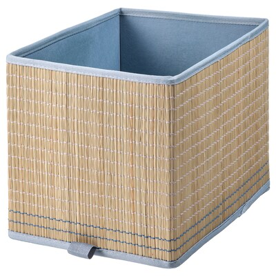 EXTRAKNÄCK Basket, seagrass/grey-blue, 25x35x25 cm