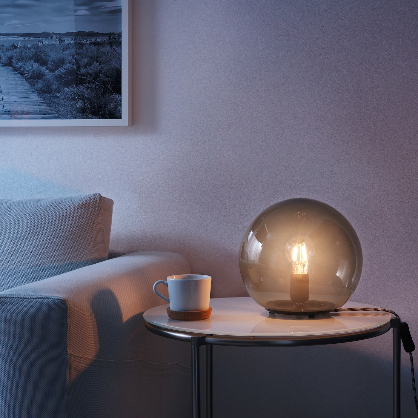 Fado Table Lamp Grey 25 Cm Ikea