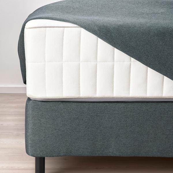 FINNSNES Divan bed, Hokkåsen medium firm/Tustna grey, 180x200 cm