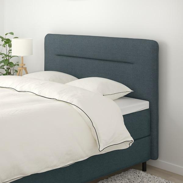 FINNSNES Divan bed, Hövåg firm/medium firm/Tussöy grey, 160x200 cm