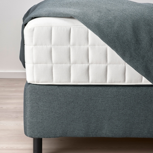 FINNSNES Divan bed, Hyllestad firm/medium firm/Tustna grey, 180x200 cm
