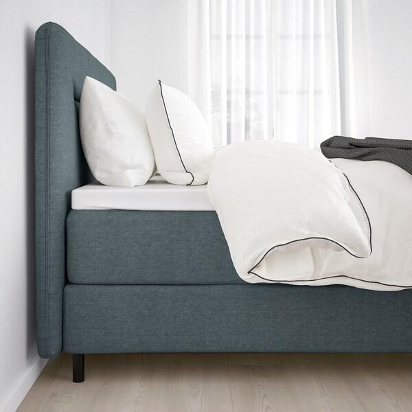 FINNSNES Divan bed, Hyllestad medium firm/Tustna grey, 180x200 cm