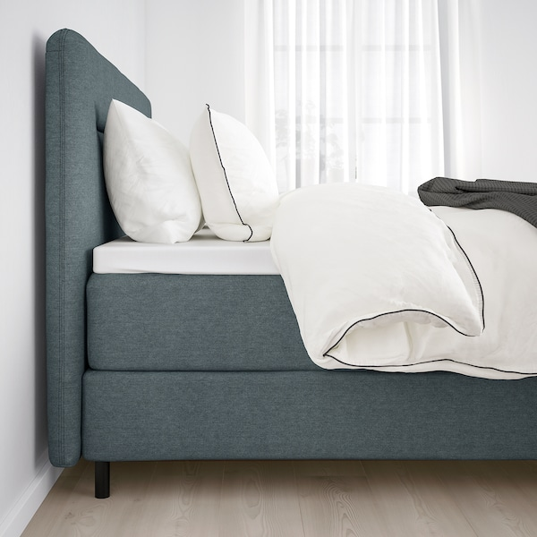 FINNSNES Divan bed, Vatneström firm/medium firm/Tistedal grey, 160x200 cm