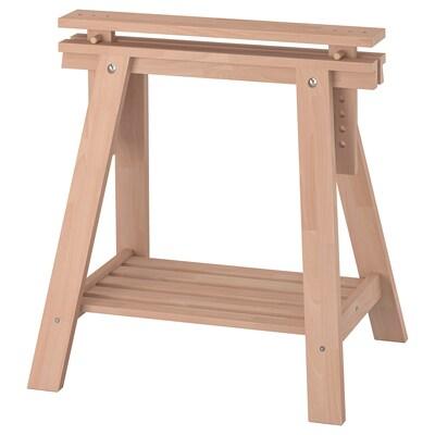 FINNVARD Trestle with shelf, beech, 70x71/93 cm
