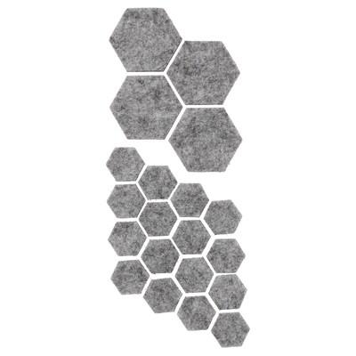 FIXA stick-on floor protectors set of 20 grey