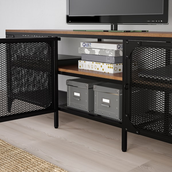 Grenen Kast Tv Meubel.Fjallbo Tv Bench Black Ikea