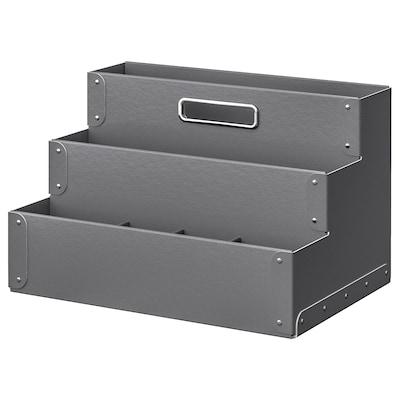 FJÄLLA Desk organiser, dark grey, 35x21 cm
