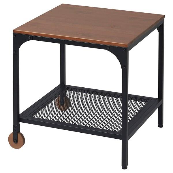 FJÄLLBO Side table, black, 45x45 cm