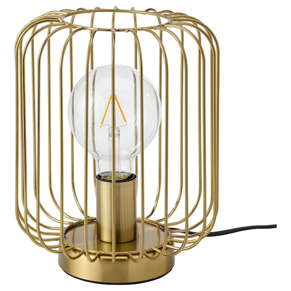 FLAGGSKEPP Table lamp, brass-plated