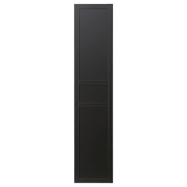 FLISBERGET Door with hinges, anthracite, 50x229 cm