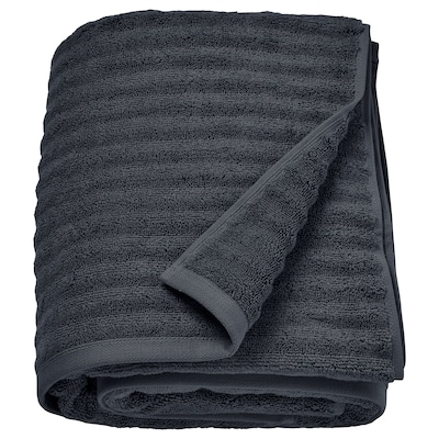 FLODALEN bath sheet dark grey 700 g/m² 150 cm 100 cm 1.50 m²