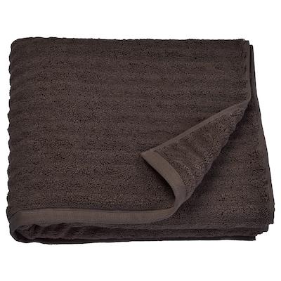 FLODALEN Bath towel, dark brown, 70x140 cm