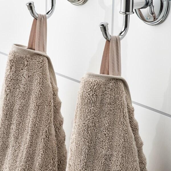 FLODALEN Guest towel, dark beige, 30x50 cm