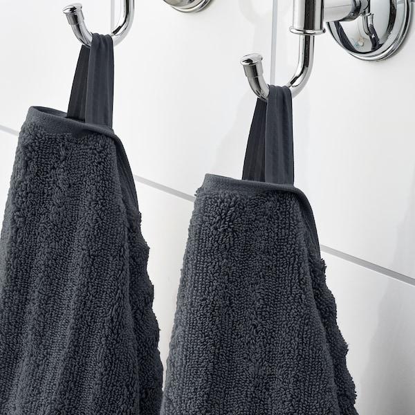 FLODALEN Guest towel, dark grey, 30x50 cm