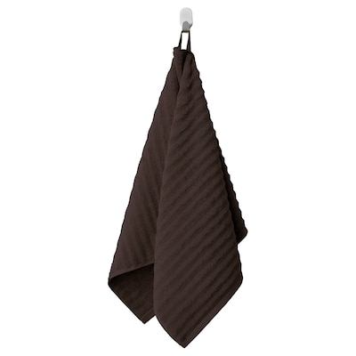 FLODALEN Hand towel, dark brown, 50x100 cm