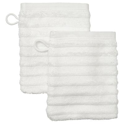 FLODALEN Washing mitt, white, 15x20 cm