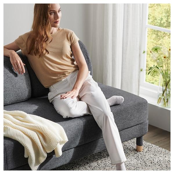 FLOTTEBO Sofa-bed with side table, Gunnared medium grey, 90 cm