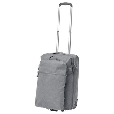 FÖRENKLA cabin bag on wheels and backpack light grey 34 cm 20 cm 52 cm