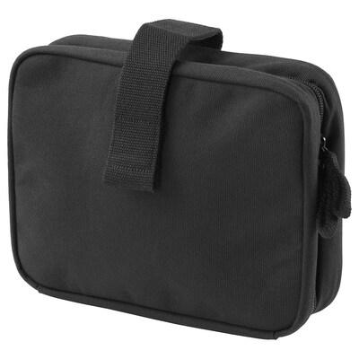 FÖRFINA toiletry bag black 23 cm 7 cm 17 cm