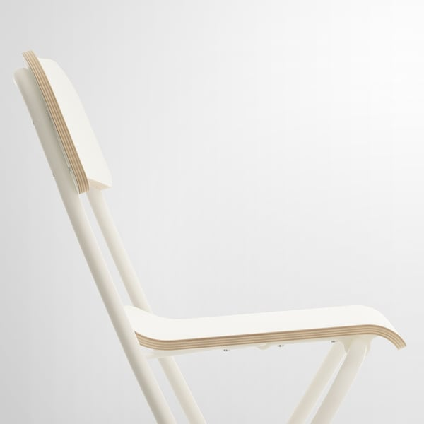 FRANKLIN bar stool with backrest, foldable white/white 100 kg 50 cm 44 cm 95 cm 34 cm 34 cm 63 cm
