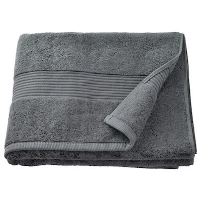 FREDRIKSJÖN Bath towel, dark grey, 70x140 cm