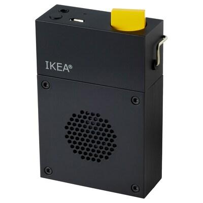 FREKVENS Portable speaker, black, 6x10 cm
