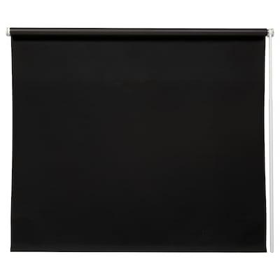 FRIDANS Block-out roller blind, black, 100x195 cm