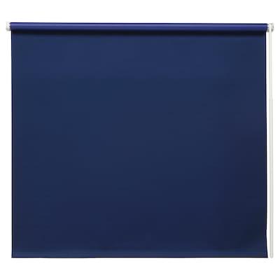 FRIDANS Block-out roller blind, blue, 120x195 cm