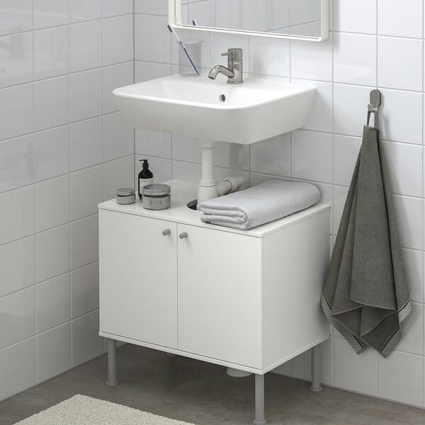 FULLEN / TYNGEN Wash-basin base cabinet w 2 doors, white/Pilkån tap