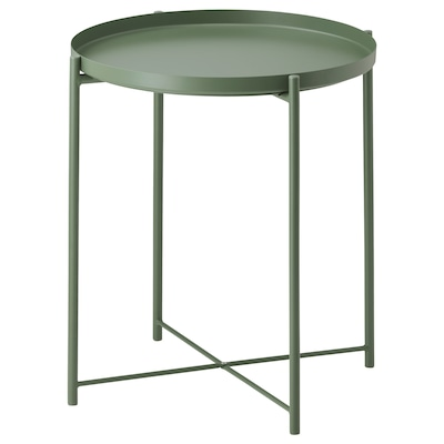 GLADOM tray table dark green 53 cm 45 cm