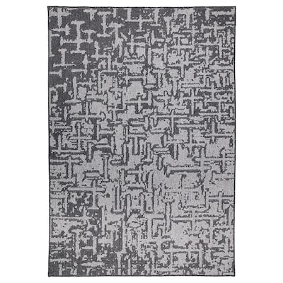 GLUMSÖ rug, flatwoven dark grey 240 cm 165 cm 8 mm 3.96 m² 2600 g/m²