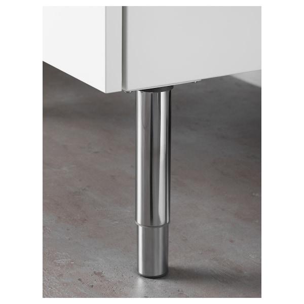 GODMORGON Leg, round/shiny, 14/25 cm