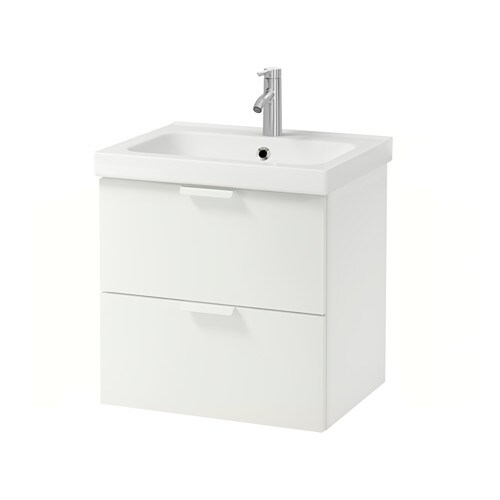 Godmorgon Odensvik Wash Stand With 2 Drawers White