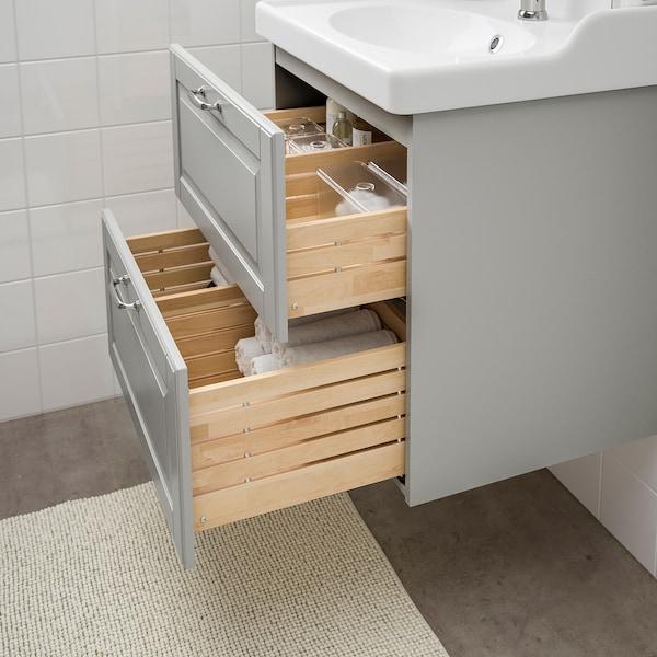 GODMORGON / RÄTTVIKEN wash-stand with 2 drawers Kasjön light grey/Hamnskär tap 62 cm 49 cm 68 cm
