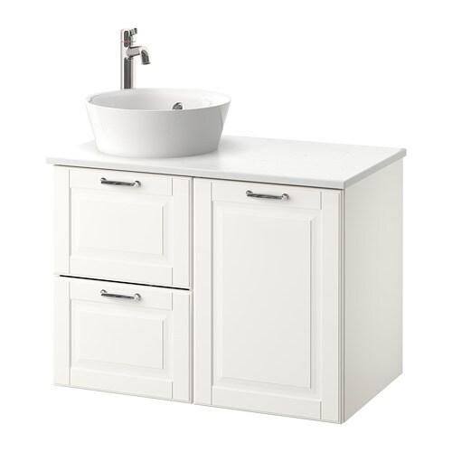 Godmorgontolken Kattevik Wsh Stnd W Countertop 40 Wash Basin Kasjön Dark Grey Marble Effect