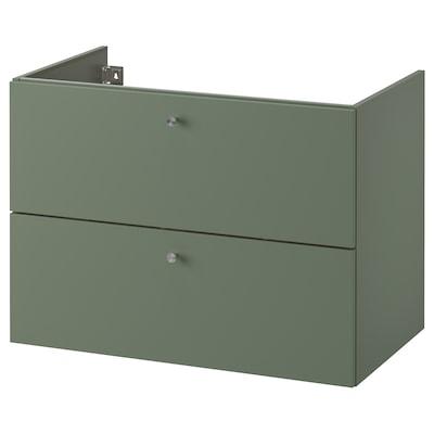 GODMORGON Wash-stand with 2 drawers, Gillburen grey-green, 80x47x58 cm