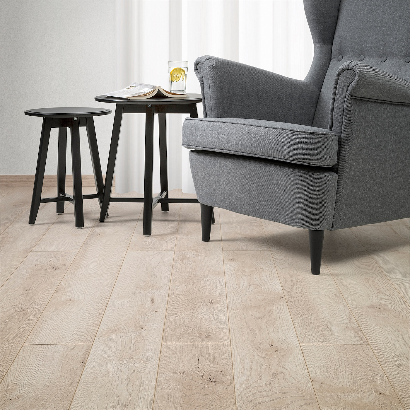GOLV Laminated flooring - light oak effect - IKEA