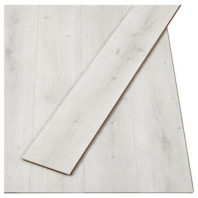GOLV Laminated flooring, oak effect/white, 2.00 m²