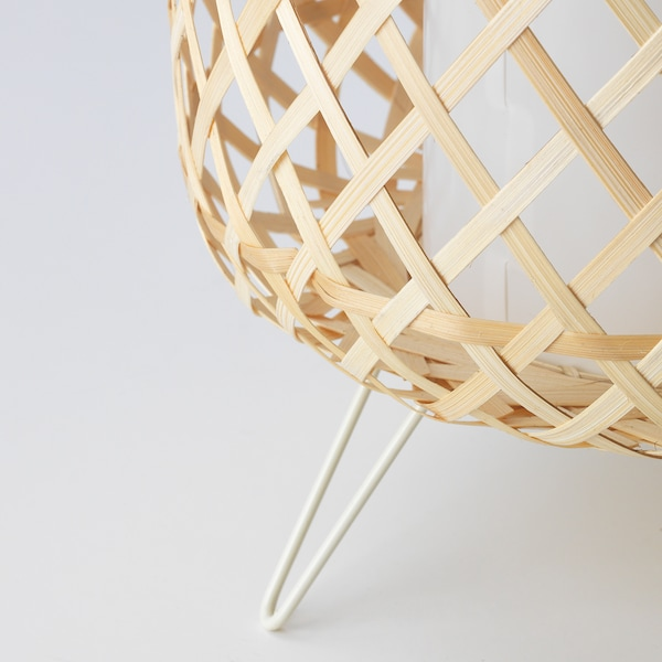 GOTTORP Table lamp, bamboo, 24x34 cm