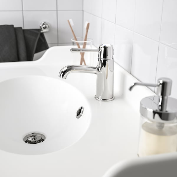 GRANSKÄR Wash-basin mixer tap with strainer, chrome-plated