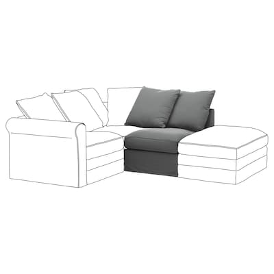 GRÖNLID 1-seat section, Ljungen medium grey