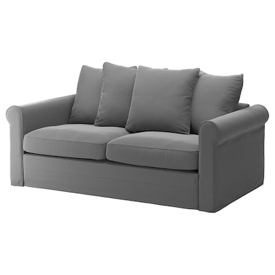 GRÖNLID 2-seat sofa-bed, Ljungen medium grey