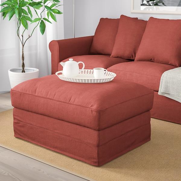 GRÖNLID Footstool with storage, Ljungen light red