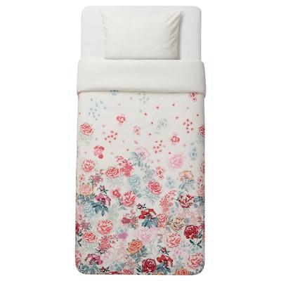 GRÖNVIDE Quilt cover and pillowcase, multicolour, 140x200/60x70 cm
