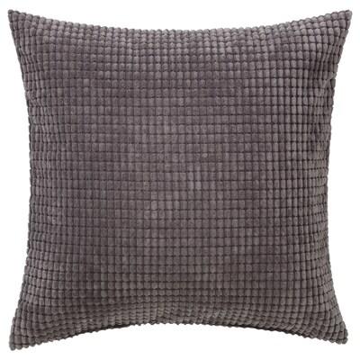 GULLKLOCKA Cushion cover, grey, 50x50 cm