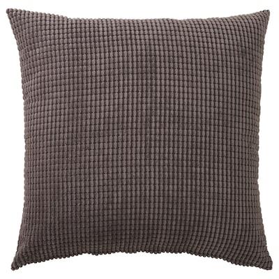 GULLKLOCKA Cushion cover, grey, 65x65 cm