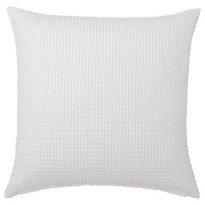 GULLKLOCKA Cushion cover, white, 50x50 cm